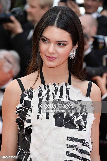 TV personality Kendall Jenner attends the opening ceremony and 'Grace of Monaco' premiere at the 67th Annual Cannes Film Festival on May 14 2014 in...