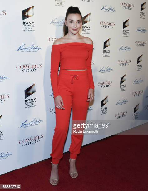 Personality Kendall Vertes attends the premiere of Samuel Goldwyn Films' 'A Cowgirl's Story' at Pacific Theatres at The Grove on April 13 2017 in Los...