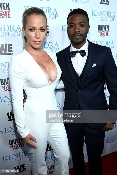 TV personality Kendra Wilkinson and singer Ray J attend WE tv's premiere of 'Kendra On Top' and 'Driven To Love' at Estrella Sunset on March 31 2016...