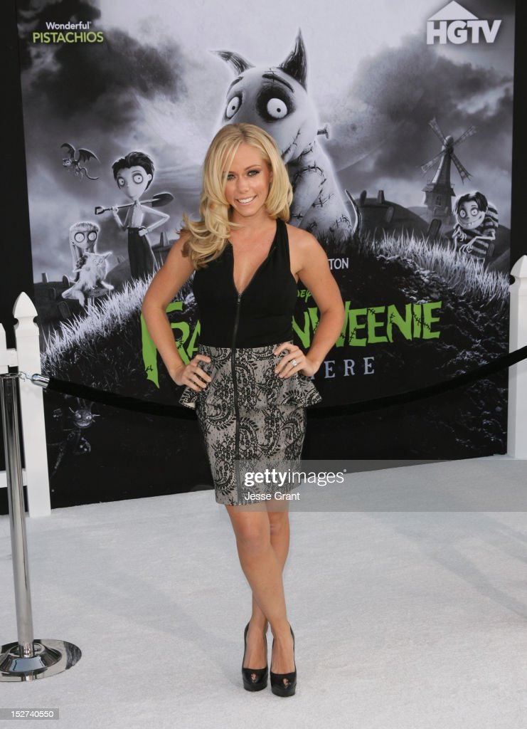 TV personality Kendra Wilkinson arrives at Disney's 'Frankenweenie' premiere at the El Capitan Theatre on September 24, 2012 in Hollywood, California.