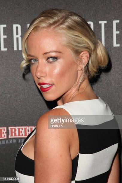 TV personality Kendra Wilkinson arrives at Fashion's Night Out 2012 at Beverly Center on September 6 2012 in Los Angeles California