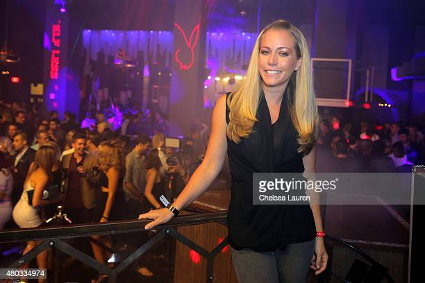 TV personality Kendra Wilkinson attends Playboy and Gramercy Pictures' Self/less party during ComicCon weekend at Parq Restaurant Nightclub on July...