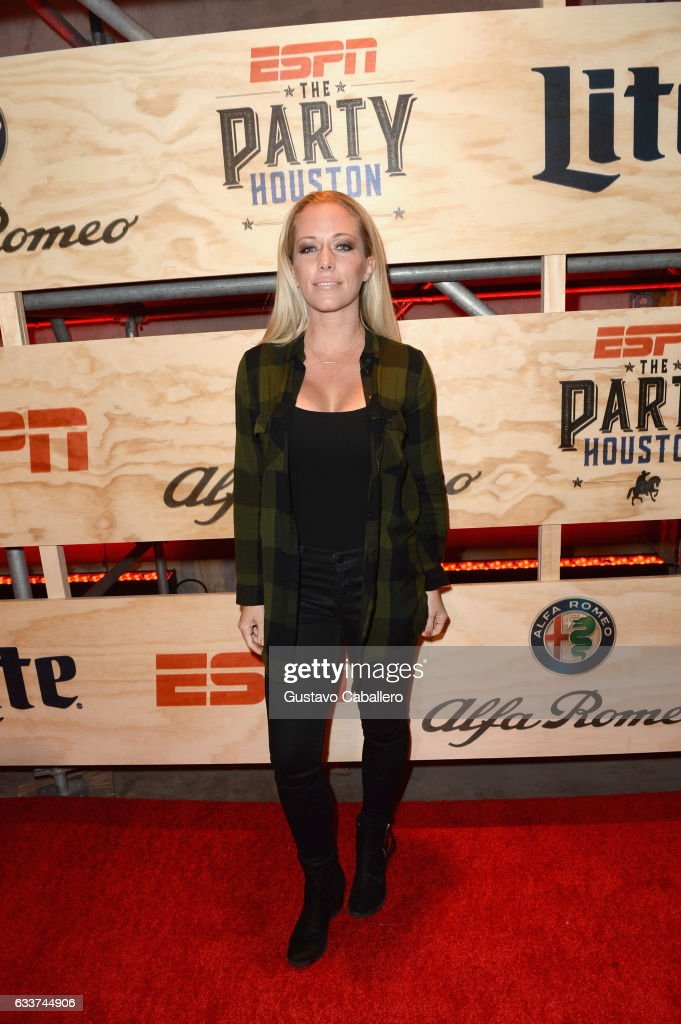 TV personality Kendra Wilkinson attends the 13th Annual ESPN The Party on February 3, 2017 in Houston, Texas.