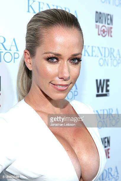 TV personality Kendra Wilkinson attends WE tv's premiere of 'Kendra On Top' and 'Driven To Love' at Estrella Sunset on March 31 2016 in West...