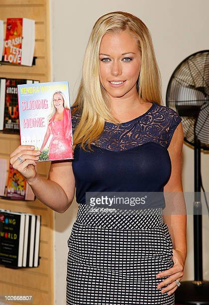 TV personality Kendra Wilkinson promotes 'Sliding Into Home' at Borders Books Music Columbus Circle on July 6 2010 in New York City