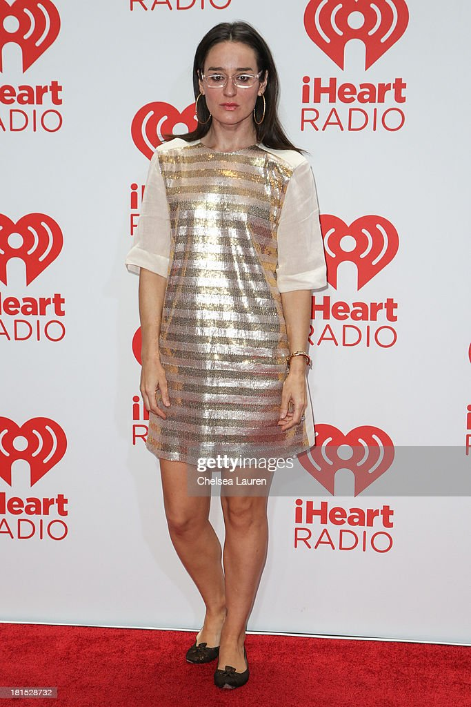 TV personality Kennedy poses in the iHeartRadio music festival photo room on September 21, 2013 in Las Vegas, Nevada.