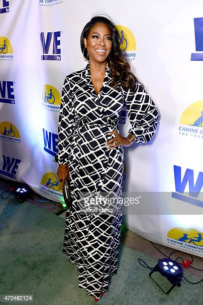 TV personality Kenya Moore attends an event hosted by WE tv and Ian Ziering to raise awareness for Canine Companions for Independence at Boulevard 3...