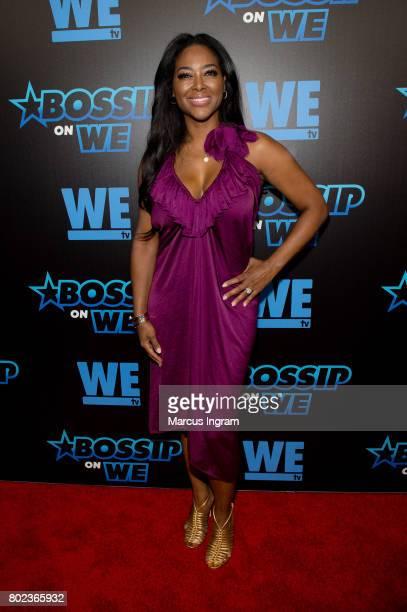 TV personality Kenya Moore attends 'Bossip On WE' Atlanta launch celebration at Elevate at W Atlanta Midtown on June 27 2017 in Atlanta Georgia