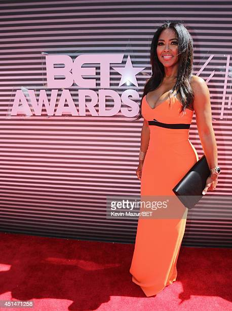 TV personality Kenya Moore attends the BET AWARDS '14 at Nokia Theatre LA LIVE on June 29 2014 in Los Angeles California