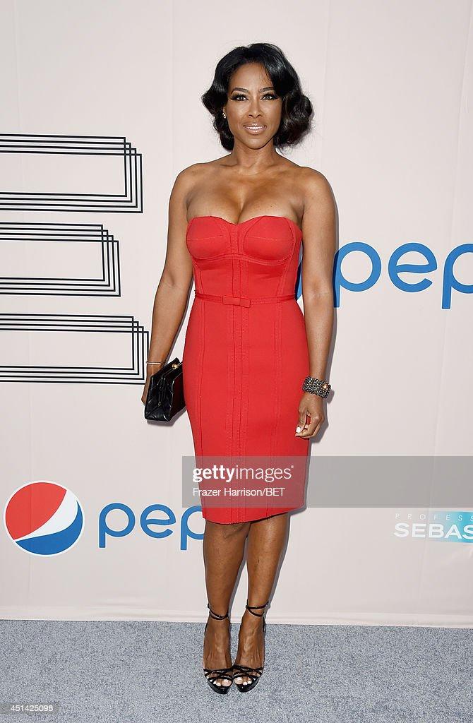 TV personality Kenya Moore attends the BET AWARDS '14 Debra Lee's Pre-Dinner held at Milk Studios on June 28, 2014 in Los Angeles, California.
