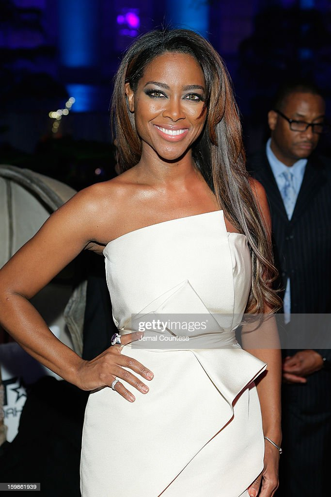 TV personality Kenya Moore attends the Inaugural Ball hosted by BET Networks at Smithsonian American Art Museum & National Portrait Gallery on January 21, 2013 in Washington, DC.