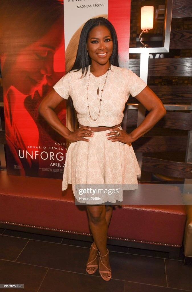 TV personality Kenya Moore attends the Kenya Moore 'Unforgettable' Atlanta screening at Cinebistro Town Brookhaven on April 12, 2017 in Atlanta, Georgia.
