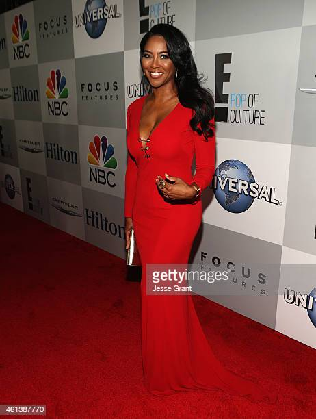 Personality Kenya Moore attends Universal NBC Focus Features and E Entertainment 2015 Golden Globe Awards After Party sponsored by Chrysler and...