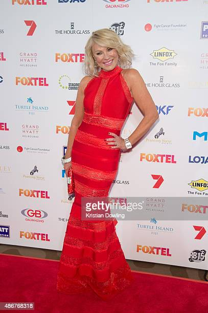 Personality KerriAnne Kennerley arrives ahead of the Red Ball 2015 at the Grand Hyatt on September 5 2015 in Melbourne Australia