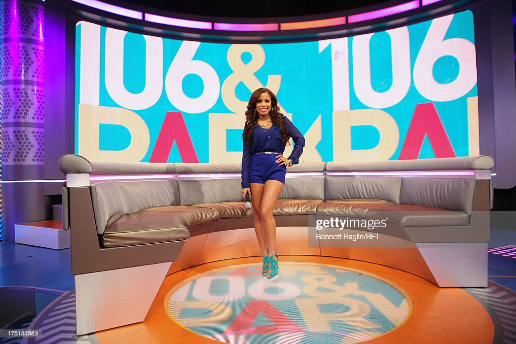 TV personality Keshia Chante attends BET's 106 & Park at BET Studios on July 31, 2013 in New York City.