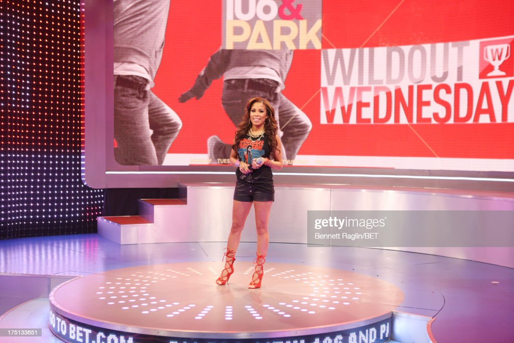 TV personality Keshia Chante attends BET's '106 & Park' at BET Studios on July 31, 2013 in New York City.