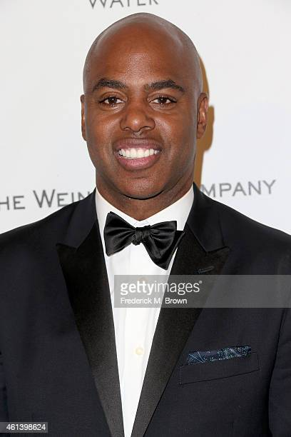 TV personality Kevin Frazier attends the 2015 Weinstein Company and Netflix Golden Globes After Party at Robinsons May Lot on January 11 2015 in...