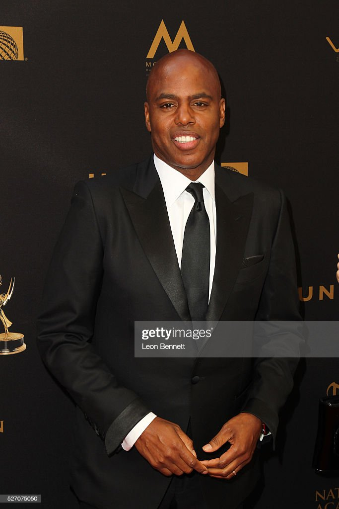 TV personality Kevin Frazier attends the 2016 Daytime Emmy Awards - Arrivals at Westin Bonaventure Hotel on May 1, 2016 in Los Angeles, California.