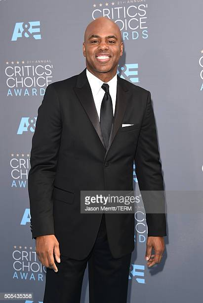 TV personality Kevin Frazier attends the 21st Annual Critics' Choice Awards at Barker Hangar on January 17 2016 in Santa Monica California