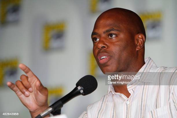 TV personality Kevin Frazier attends the CBS 'Under The Dome' panel exclusive sneak preview during ComicCon International at San Diego Convention...