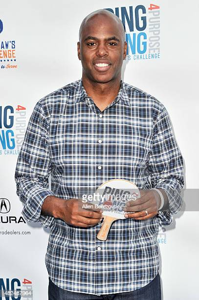 TV personality Kevin Frazier attends the Clayton Kershaw's 3rd Annual PingPong4Purpose tournament at Dodger Stadium on July 30 2015 in Los Angeles...