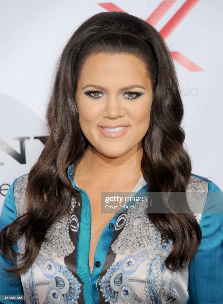 TV personality Khloe Kardashian arrives at FOX's 'The X Factor' viewing party at Mixology101 & Planet Dailies on December 6, 2012 in Los Angeles, California.