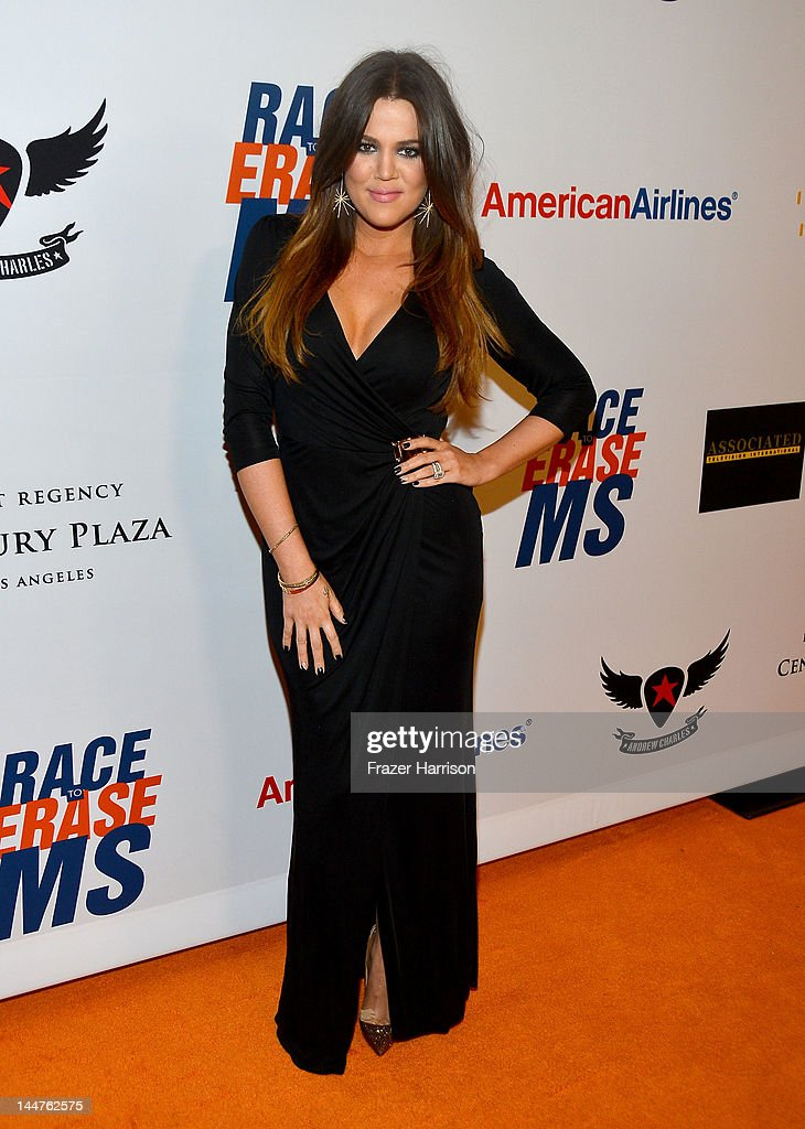 TV personality <a gi-track='captionPersonalityLinkClicked' href=/galleries/search?phrase=Khloe+Kardashian&family=editorial&specificpeople=3955023 ng-click='$event.stopPropagation()'>Khloe Kardashian</a> arrives at the 19th Annual Race to Erase MS held at the Hyatt Regency Century Plaza on May 18, 2012 in Century City, California.