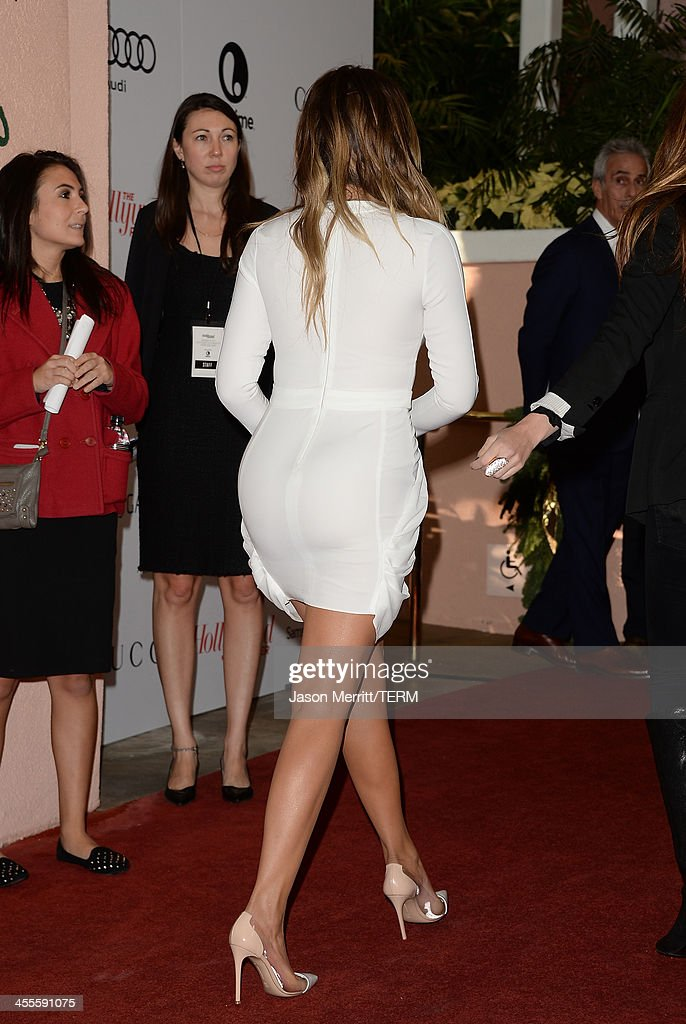 TV personality Khloe Kardashian arrives at The Hollywood Reporter's 22nd Annual Women In Entertainment Breakfast at Beverly Hills Hotel on December 11, 2013 in Beverly Hills, California.