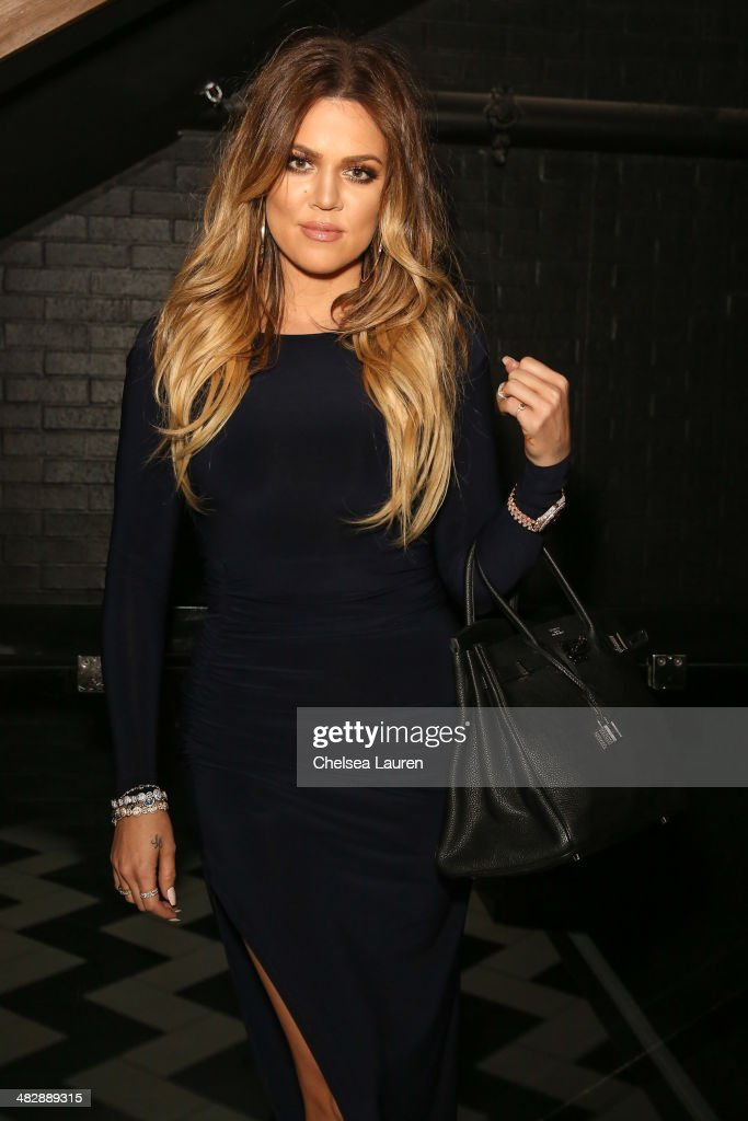 TV personality Khloe Kardashian attends Christian Casey Combs' 16th birthday party at 1OAK on April 4, 2014 in West Hollywood, California.
