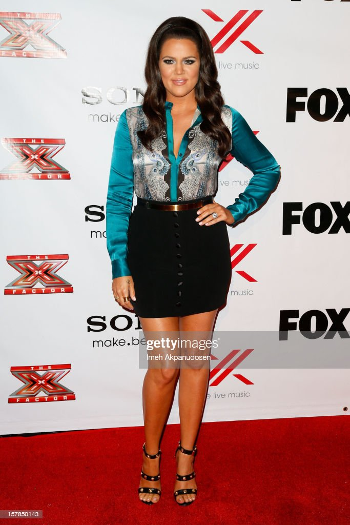 TV personality <a gi-track='captionPersonalityLinkClicked' href=/galleries/search?phrase=Khloe+Kardashian&family=editorial&specificpeople=3955023 ng-click='$event.stopPropagation()'>Khloe Kardashian</a> attends Fox's 'The X Factor' viewing party at Mixology101 & Planet Dailies on December 6, 2012 in Los Angeles, California.