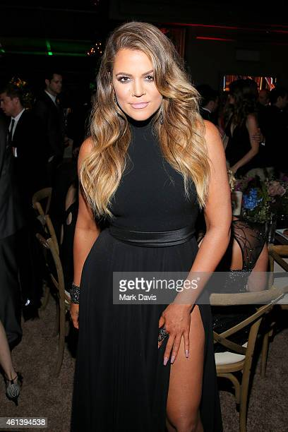 TV personality Khloe Kardashian attends The 72nd Annual Golden Globe Awards at The Beverly Hilton on January 11 2015 in Beverly Hills California