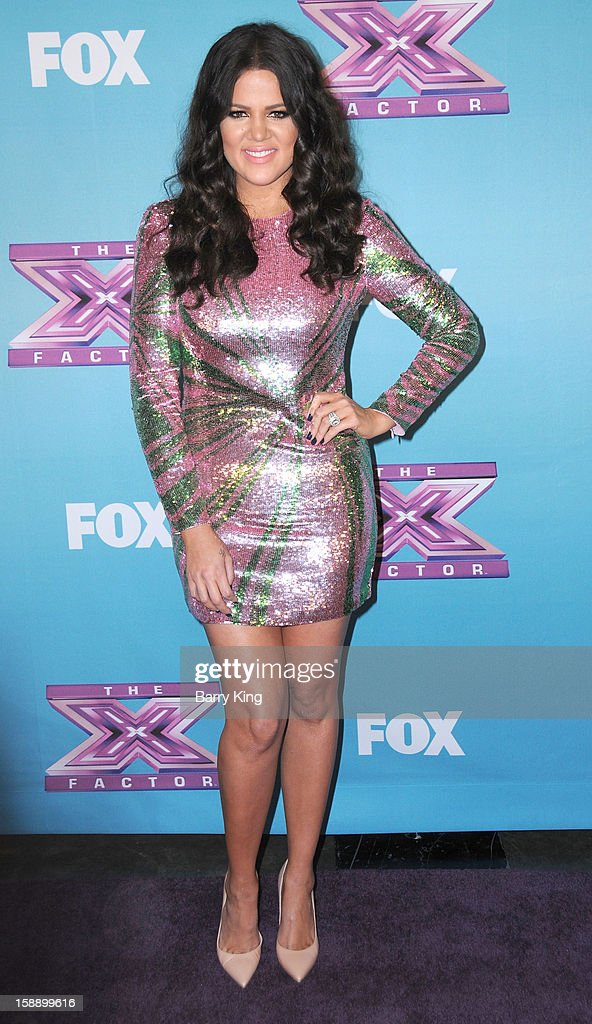 TV personality Khloe Kardashian attends the season finale of Fox's 'The X Factor' at CBS Television City on December 20, 2012 in Los Angeles, California.