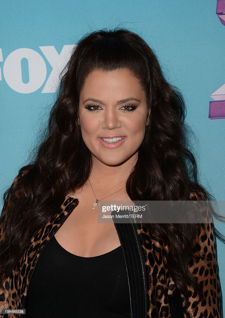TV personality Khloe Kardashian Odom attends Fox's 'The X Factor' season finale news conference at CBS Television City on December 17, 2012 in Los Angeles, California.