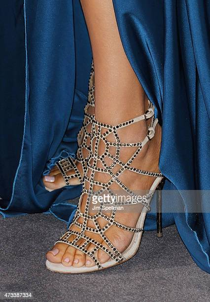 Personality Khloe Kardashian shoe detail attends the 2015 NBCUniversal Cable Entertainment Upfront at The Jacob K Javits Convention Center on May 14...