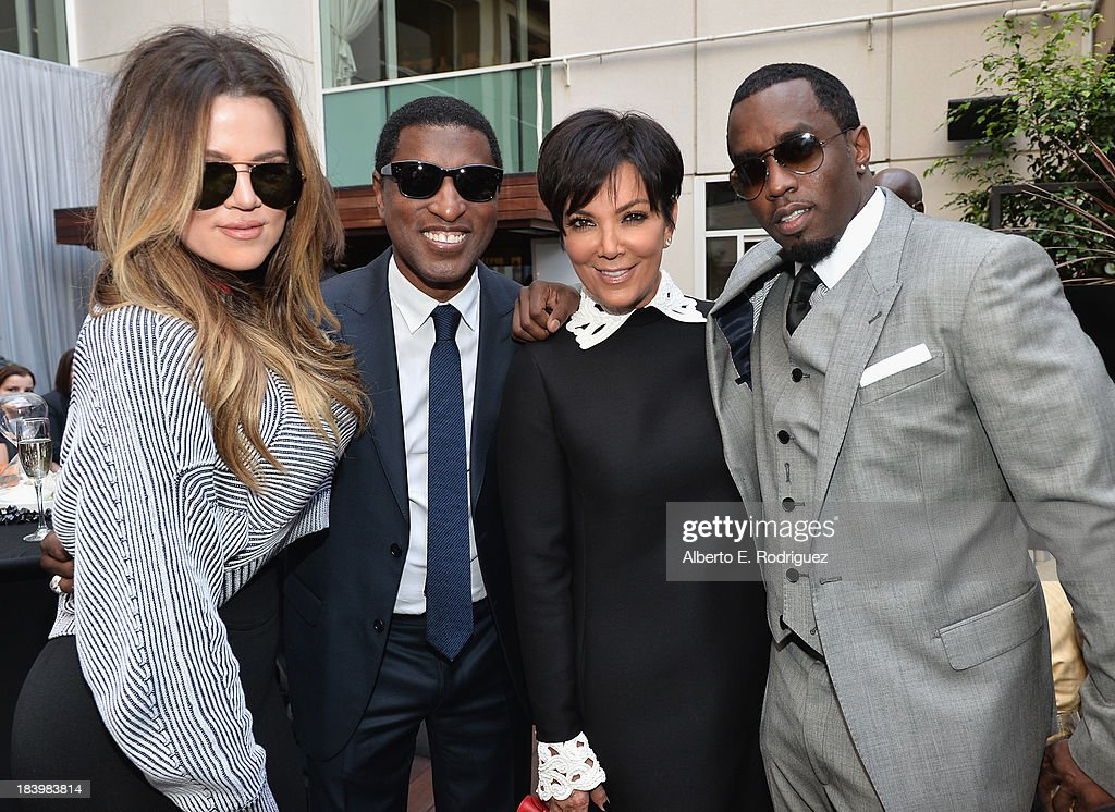 TV personality <a gi-track='captionPersonalityLinkClicked' href=/galleries/search?phrase=Khloe+Kardashian&family=editorial&specificpeople=3955023 ng-click='$event.stopPropagation()'>Khloe Kardashian</a>, songwriter/record producer Kenny '<a gi-track='captionPersonalityLinkClicked' href=/galleries/search?phrase=Babyface&family=editorial&specificpeople=227435 ng-click='$event.stopPropagation()'>Babyface</a>' Edmonds, TV personality <a gi-track='captionPersonalityLinkClicked' href=/galleries/search?phrase=Kris+Jenner&family=editorial&specificpeople=762610 ng-click='$event.stopPropagation()'>Kris Jenner</a> and businessman/singer <a gi-track='captionPersonalityLinkClicked' href=/galleries/search?phrase=Sean+Combs&family=editorial&specificpeople=178993 ng-click='$event.stopPropagation()'>Sean Combs</a> attend a ceremony honoring Kenny '<a gi-track='captionPersonalityLinkClicked' href=/galleries/search?phrase=Babyface&family=editorial&specificpeople=227435 ng-click='$event.stopPropagation()'>Babyface</a>' Edmonds with the 2508th Star on the Hollywood Walk of Fame on October 10, 2013 in Hollywood, California.