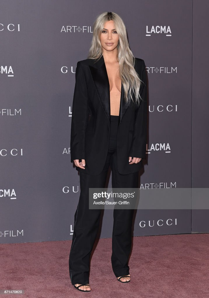TV personality Kim Kardashian arrives at the 2017 LACMA Art + Film Gala at LACMA on November 4, 2017 in Los Angeles, California.