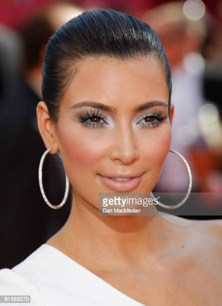 TV personality Kim Kardashian arrives at the 61st Primetime Emmy Awards held at the Nokia Theatre on September 20 2009 in Los Angeles California