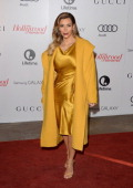 TV personality Kim Kardashian arrives at The Hollywood Reporter's 22nd Annual Women In Entertainment Breakfast at Beverly Hills Hotel on December 11...