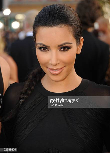 TV personality Kim Kardashian arrives at the premiere of Summit Entertainment's 'The Twilight Saga Eclipse' during the 2010 Los Angeles Film Festival...