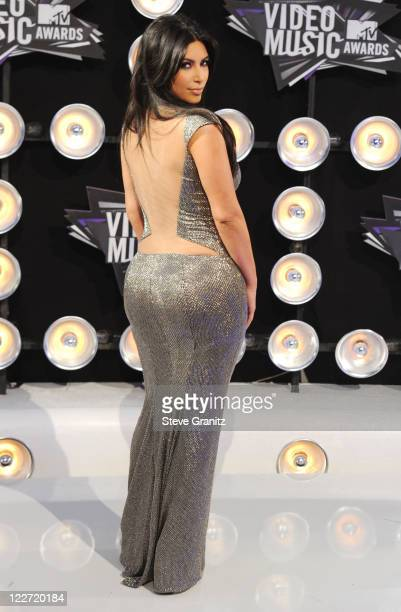 Personality Kim Kardashian arrives at the The 28th Annual MTV Video Music Awards at Nokia Theatre LA LIVE on August 28 2011 in Los Angeles California
