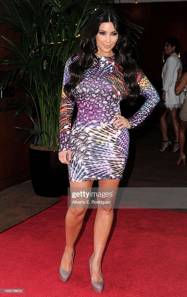 TV personality Kim Kardashian arrives to the Comcast Entertainment Group's Summer TCA Cocktail Party on August 6, 2010 in Beverly Hills, California.