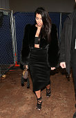 TV personality Kim Kardashian attends DirecTV Super Saturday Night hosted by Mark Cuban's AXS TV and Pro Football Hall of Famer Michael Strahan at...