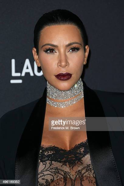 TV personality Kim Kardashian attends LACMA 2015 ArtFilm Gala Honoring James Turrell and Alejandro G Iñárritu Presented by Gucci at LACMA on November...