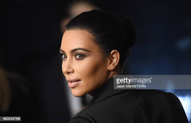 TV personality Kim Kardashian attends Rihanna's First Annual Diamond Ball at The Vineyard on December 11 2014 in Beverly Hills California