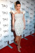 Personality Kim Kardashian attends the 10th anniversary party at TAO on October 16 2010 in New York City