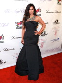 TV personality Kim Kardashian attends the 2010 Angel Ball to Benefit Gabrielle's Angel Foundation at Cipriani Wall Street on October 21 2010 in New...