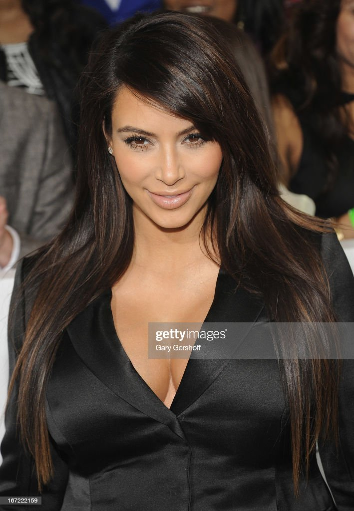 TV personality <a gi-track='captionPersonalityLinkClicked' href=/galleries/search?phrase=Kim+Kardashian&family=editorial&specificpeople=753387 ng-click='$event.stopPropagation()'>Kim Kardashian</a> attends the 2013 E! Upfront at The Grand Ballroom at Manhattan Center on April 22, 2013 in New York City.