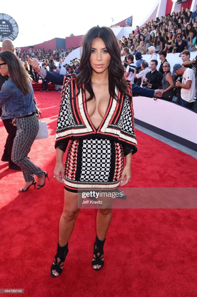 TV personality Kim Kardashian attends the 2014 MTV Video Music Awards at The Forum on August 24, 2014 in Inglewood, California.