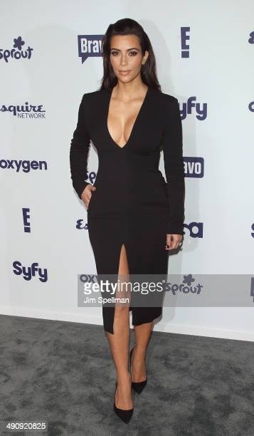 TV personality Kim Kardashian attends the 2014 NBCUniversal Cable Entertainment Upfronts at The Jacob K Javits Convention Center on May 15 2014 in...