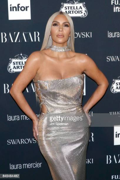 TV personality Kim Kardashian attends the 2017 Harper's Bazaar Icons at The Plaza Hotel on September 8 2017 in New York City